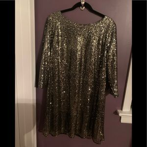 Gold sequined dress NYE